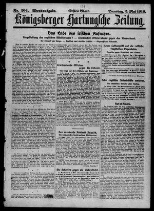 Königsberger Hartungsche Zeitung vom 02.05.1916