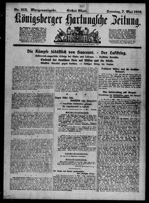 Königsberger Hartungsche Zeitung vom 07.05.1916