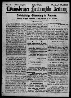 Königsberger Hartungsche Zeitung vom 08.05.1916