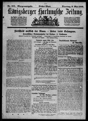 Königsberger Hartungsche Zeitung vom 09.05.1916