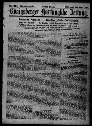 Königsberger Hartungsche Zeitung vom 10.05.1916