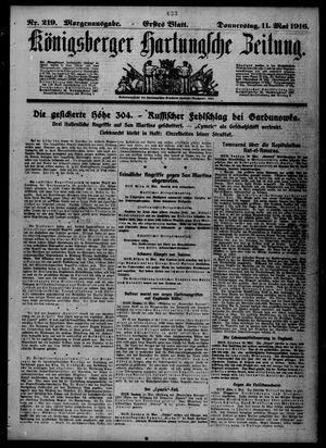 Königsberger Hartungsche Zeitung vom 11.05.1916
