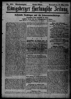 Königsberger Hartungsche Zeitung vom 13.05.1916