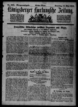 Königsberger Hartungsche Zeitung vom 14.05.1916