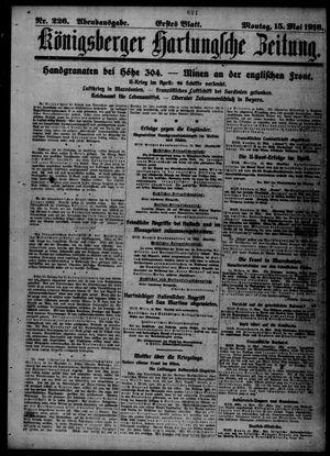 Königsberger Hartungsche Zeitung vom 15.05.1916