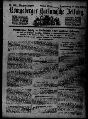 Königsberger Hartungsche Zeitung vom 18.05.1916