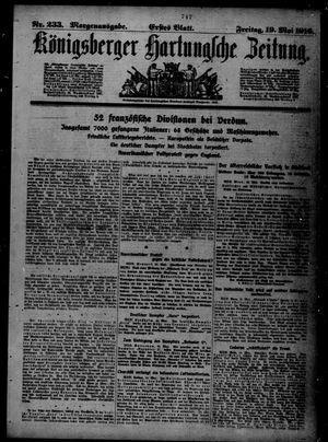 Königsberger Hartungsche Zeitung vom 19.05.1916