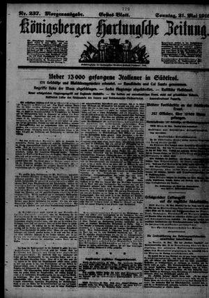 Königsberger Hartungsche Zeitung vom 21.05.1916
