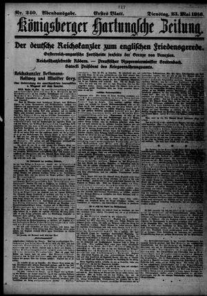 Königsberger Hartungsche Zeitung vom 23.05.1916