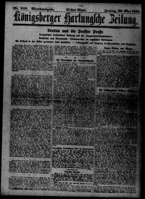Königsberger Hartungsche Zeitung vom 26.05.1916