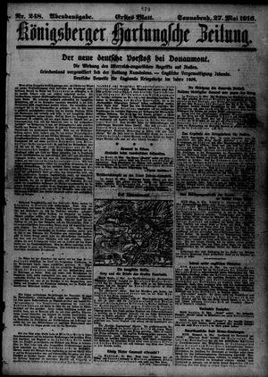 Königsberger Hartungsche Zeitung vom 27.05.1916
