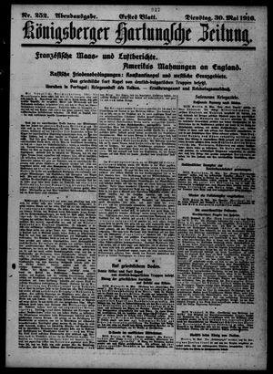 Königsberger Hartungsche Zeitung vom 30.05.1916