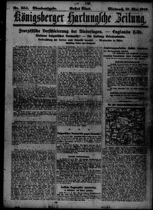 Königsberger Hartungsche Zeitung vom 31.05.1916