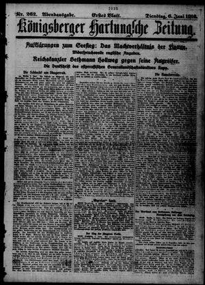 Königsberger Hartungsche Zeitung on Jun 6, 1916