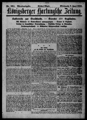 Königsberger Hartungsche Zeitung vom 07.06.1916