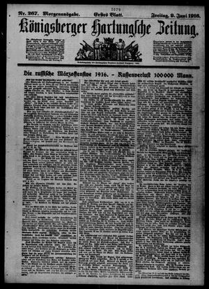 Königsberger Hartungsche Zeitung vom 09.06.1916