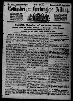 Königsberger Hartungsche Zeitung vom 10.06.1916
