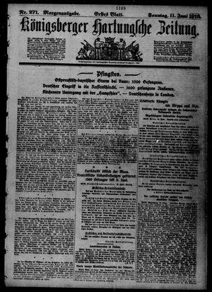 Königsberger Hartungsche Zeitung vom 11.06.1916