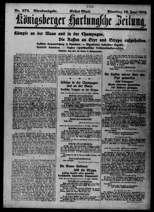 Königsberger Hartungsche Zeitung vom 13.06.1916