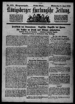 Königsberger Hartungsche Zeitung vom 14.06.1916