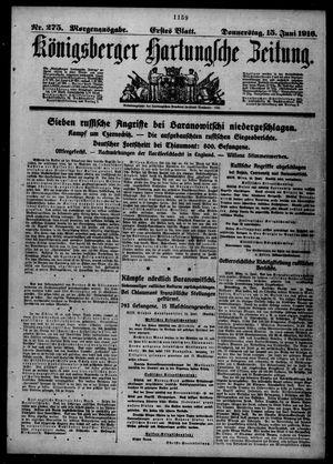 Königsberger Hartungsche Zeitung vom 15.06.1916