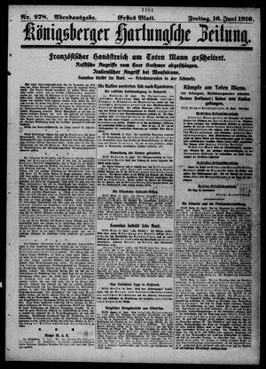 Königsberger Hartungsche Zeitung vom 16.06.1916