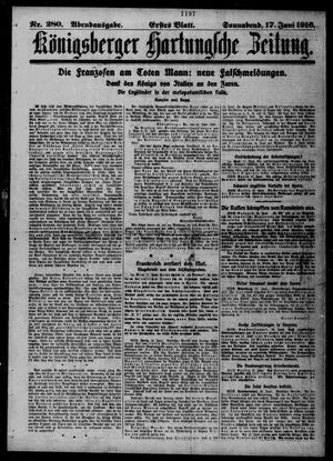 Königsberger Hartungsche Zeitung vom 17.06.1916