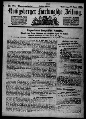 Königsberger Hartungsche Zeitung vom 18.06.1916