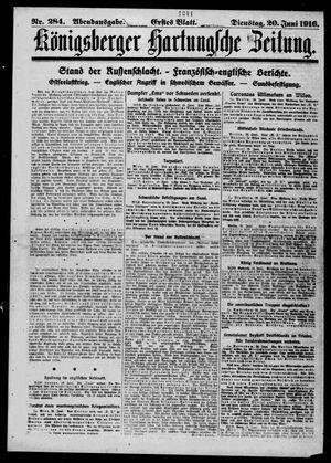 Königsberger Hartungsche Zeitung vom 20.06.1916