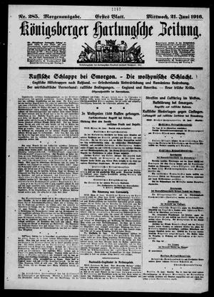 Königsberger Hartungsche Zeitung vom 21.06.1916