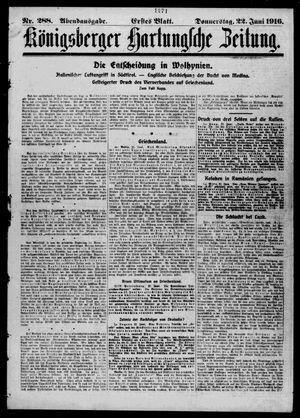 Königsberger Hartungsche Zeitung vom 22.06.1916