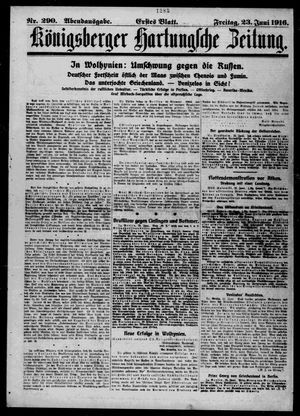 Königsberger Hartungsche Zeitung vom 23.06.1916