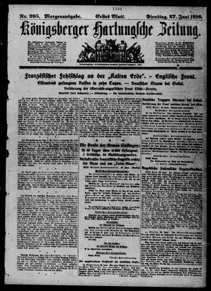 Königsberger Hartungsche Zeitung vom 27.06.1916