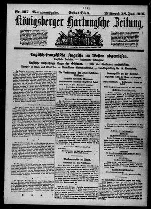 Königsberger Hartungsche Zeitung vom 28.06.1916