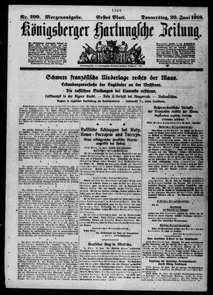 Königsberger Hartungsche Zeitung vom 29.06.1916