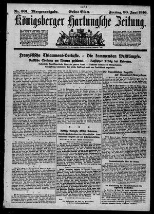 Königsberger Hartungsche Zeitung vom 30.06.1916