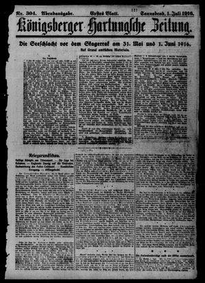 Königsberger Hartungsche Zeitung vom 01.07.1916