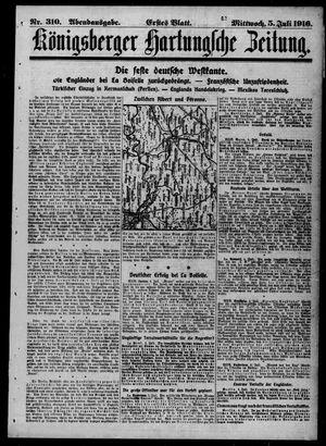 Königsberger Hartungsche Zeitung vom 05.07.1916