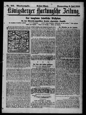 Königsberger Hartungsche Zeitung vom 06.07.1916