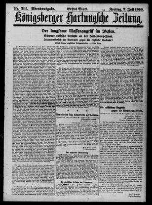 Königsberger Hartungsche Zeitung vom 07.07.1916