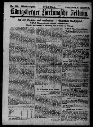 Königsberger Hartungsche Zeitung vom 08.07.1916