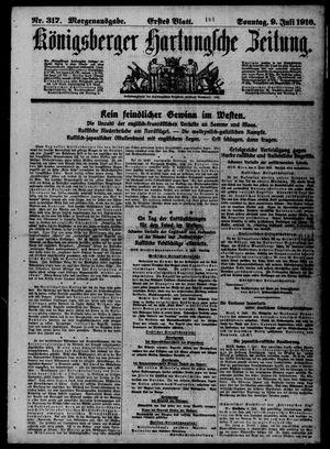 Königsberger Hartungsche Zeitung vom 09.07.1916