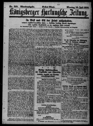 Königsberger Hartungsche Zeitung vom 10.07.1916