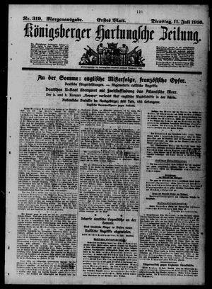 Königsberger Hartungsche Zeitung vom 11.07.1916