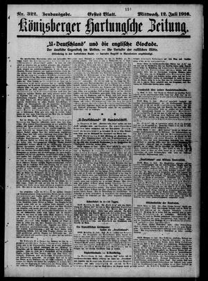Königsberger Hartungsche Zeitung vom 12.07.1916
