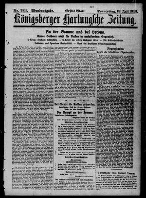 Königsberger Hartungsche Zeitung vom 13.07.1916