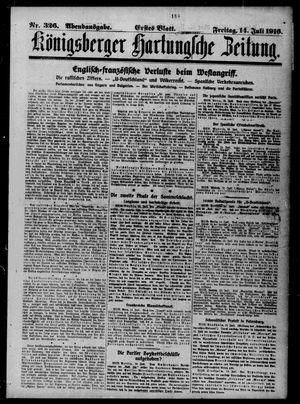 Königsberger Hartungsche Zeitung vom 14.07.1916