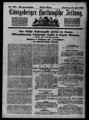 Königsberger Hartungsche Zeitung vom 16.07.1916
