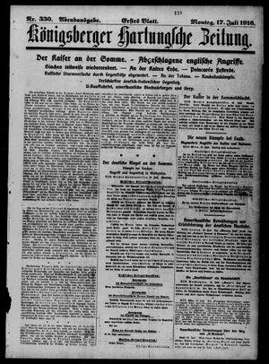 Königsberger Hartungsche Zeitung vom 17.07.1916