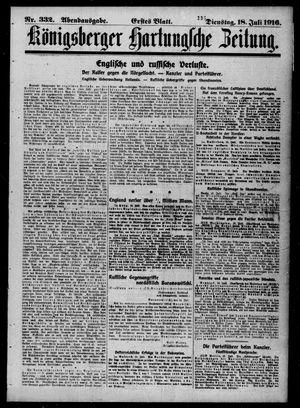Königsberger Hartungsche Zeitung vom 18.07.1916